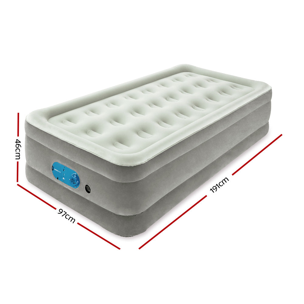 Bestway Single Air Bed Inflatable Mattress Sleeping Mat Battery Built-in Pump