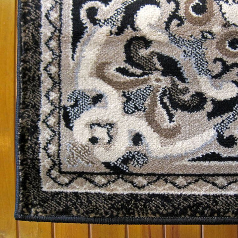 Turkish Persian Black Leif Rugs - Store Zone-Online Shopping Store Melbourne Australia
