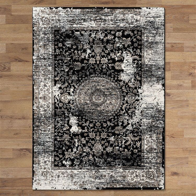 Turkish Persian Black Boden Rugs - Store Zone-Online Shopping Store Melbourne Australia