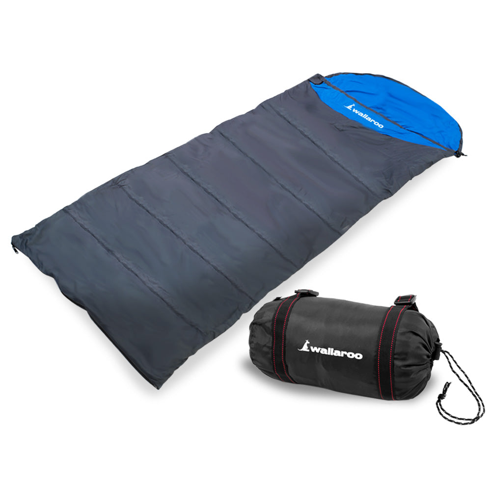 Wallaroo Camping Micro Sleeping Bag Thermal Hiking - Right Zipper