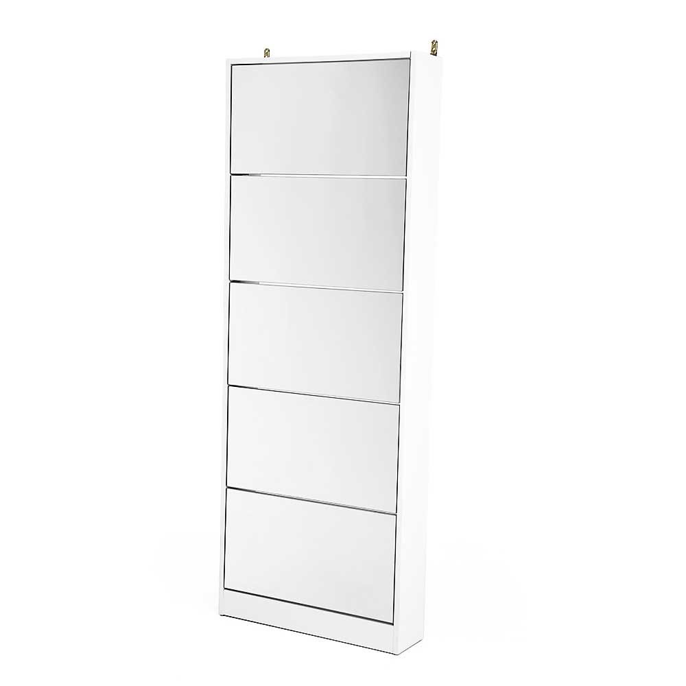 Mirrored Shoe Storage Cabinet Organizer- 170 x 63 x 17cm