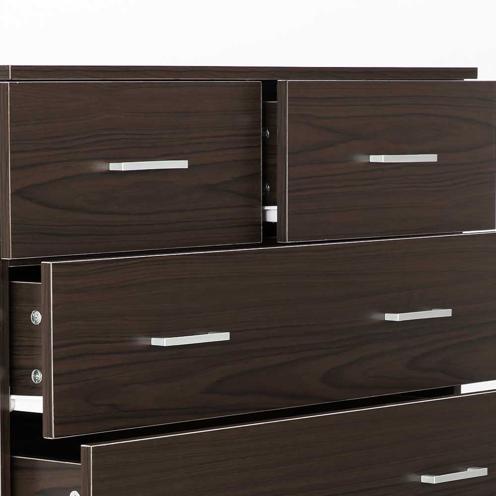 Tallboy Dresser 6 Chest of Drawers Cabinet 85 x 39.5 x 105 - Brown