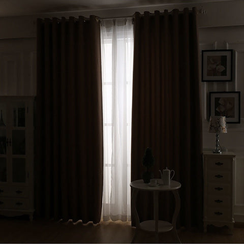 2x 100% Blockout Curtains Panels 3 Layers Eyelet Avocado 140x230cm