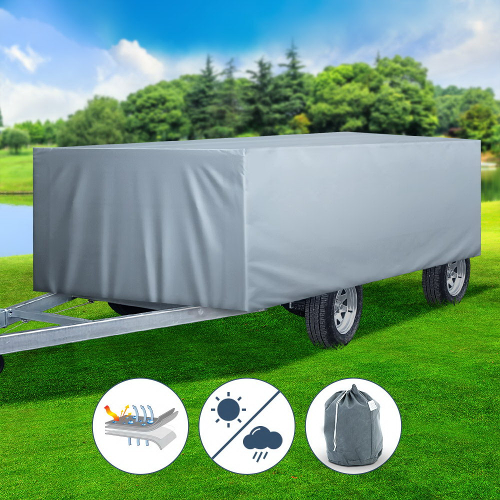 WEISSHORN 10-12 ft Camper Trailer Travel Cover Tent 3-3.6m Caravan Swan