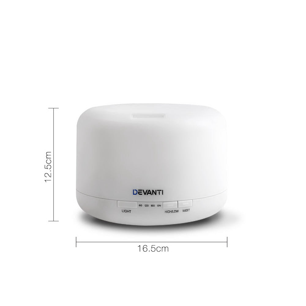 Devanti 500ml 4 in 1 Aroma Diffuser - White