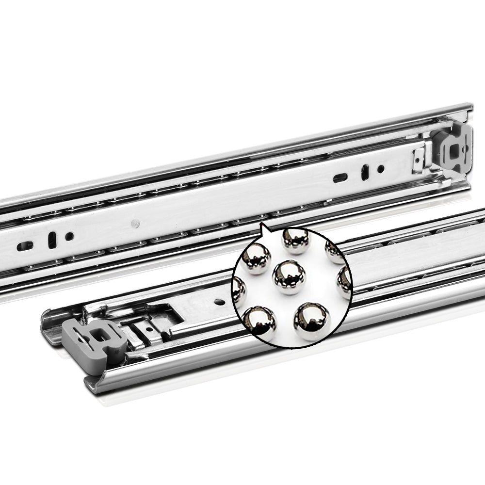 Cefito Heavy Duty 68KG Locking Drawer Slides Full Extension Ball Bearing 600mm