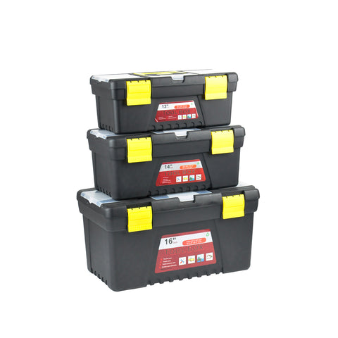 3-piece Tool Box Set With Organiser Trays