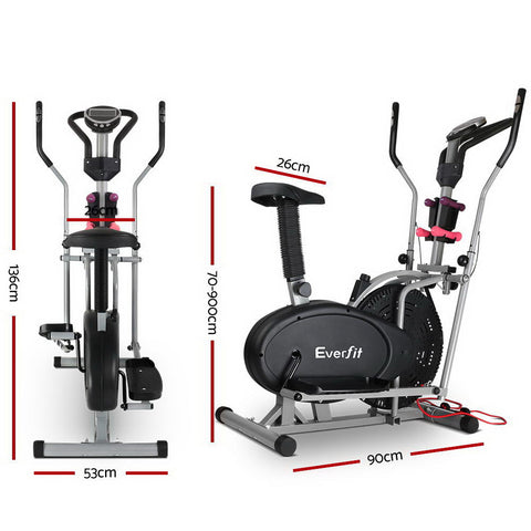 Everfit 6in1 Elliptical Cross Trainer Exercise Bike Bicycle Fitness