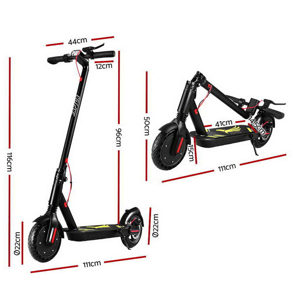 Electric Scooter Compact Portable Foldable Commuter Bike Kids Adult LED Light Black