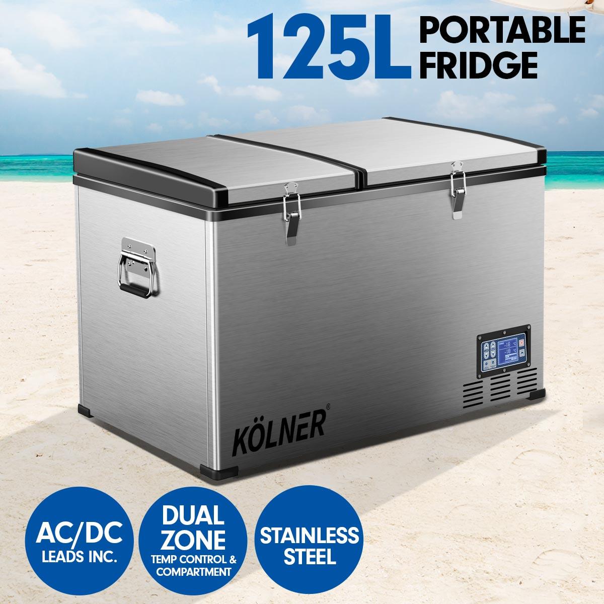 Kolner 125L Portable Fridge Cooler Freezer Camping