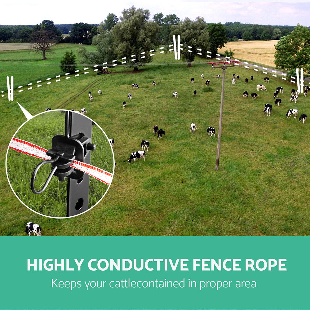 Giantz 400m Stainless Steel Polywire Poly Tape Electric Fence