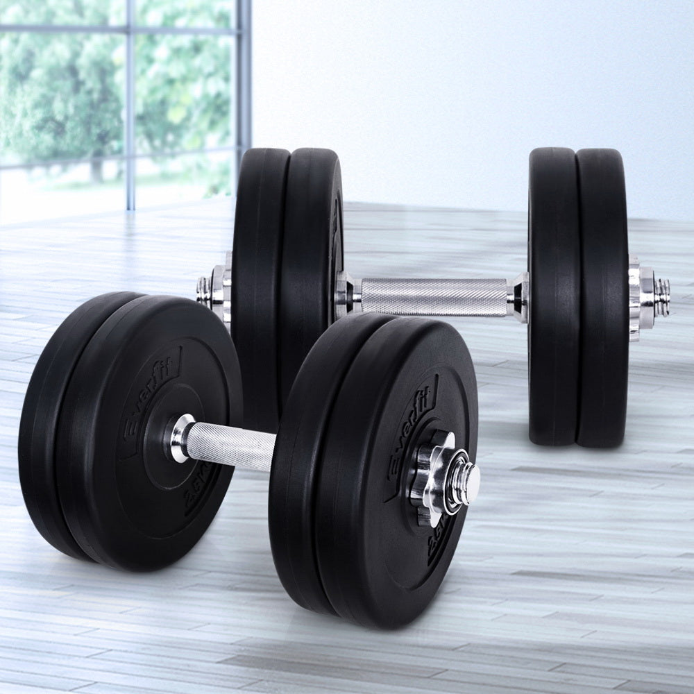 Everfit Fitness Gym Exercise Dumbbell Set 25kg