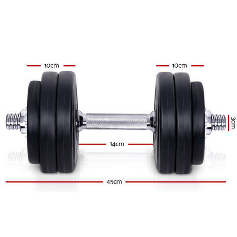 Everfit Fitness Gym Exercise Dumbbell Set 30kg