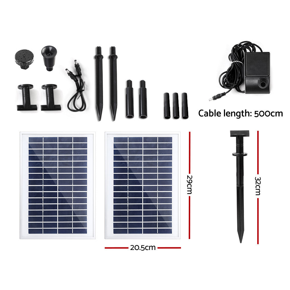 Gardeon 110W Solar Powered Water Pond Pump Outdoor Submersible Fountains