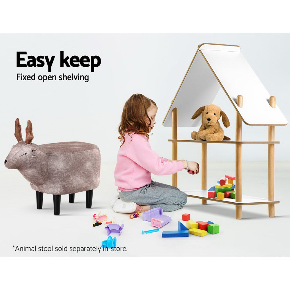 Artiss Kids Cabin Rack Display Shelf Children Bookshelf 2 Tier - Store Zone-Online Shopping Store Melbourne Australia