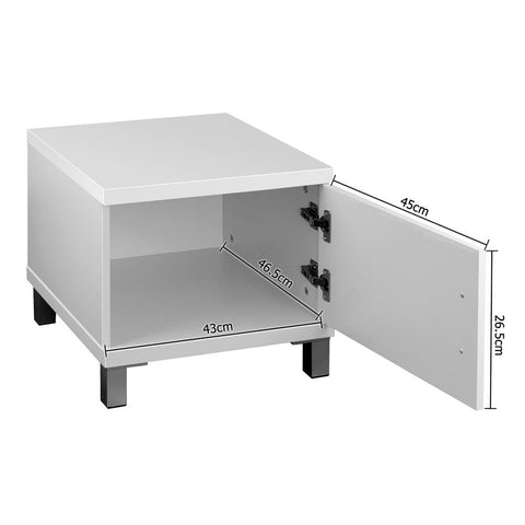 Artiss Entertainment Unit with Cabinets - White