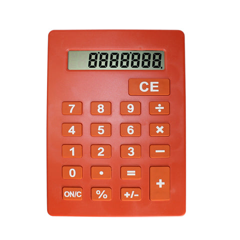 Jumbo Calculator Large Size Display Orange