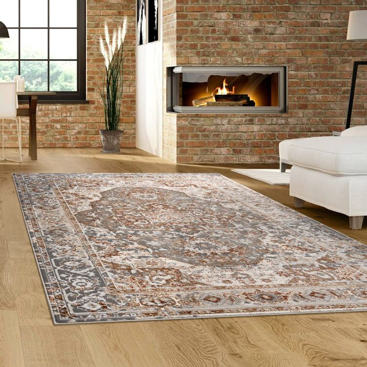 Turkish Persian Grey Megan Rugs - Store Zone-Online Shopping Store Melbourne Australia