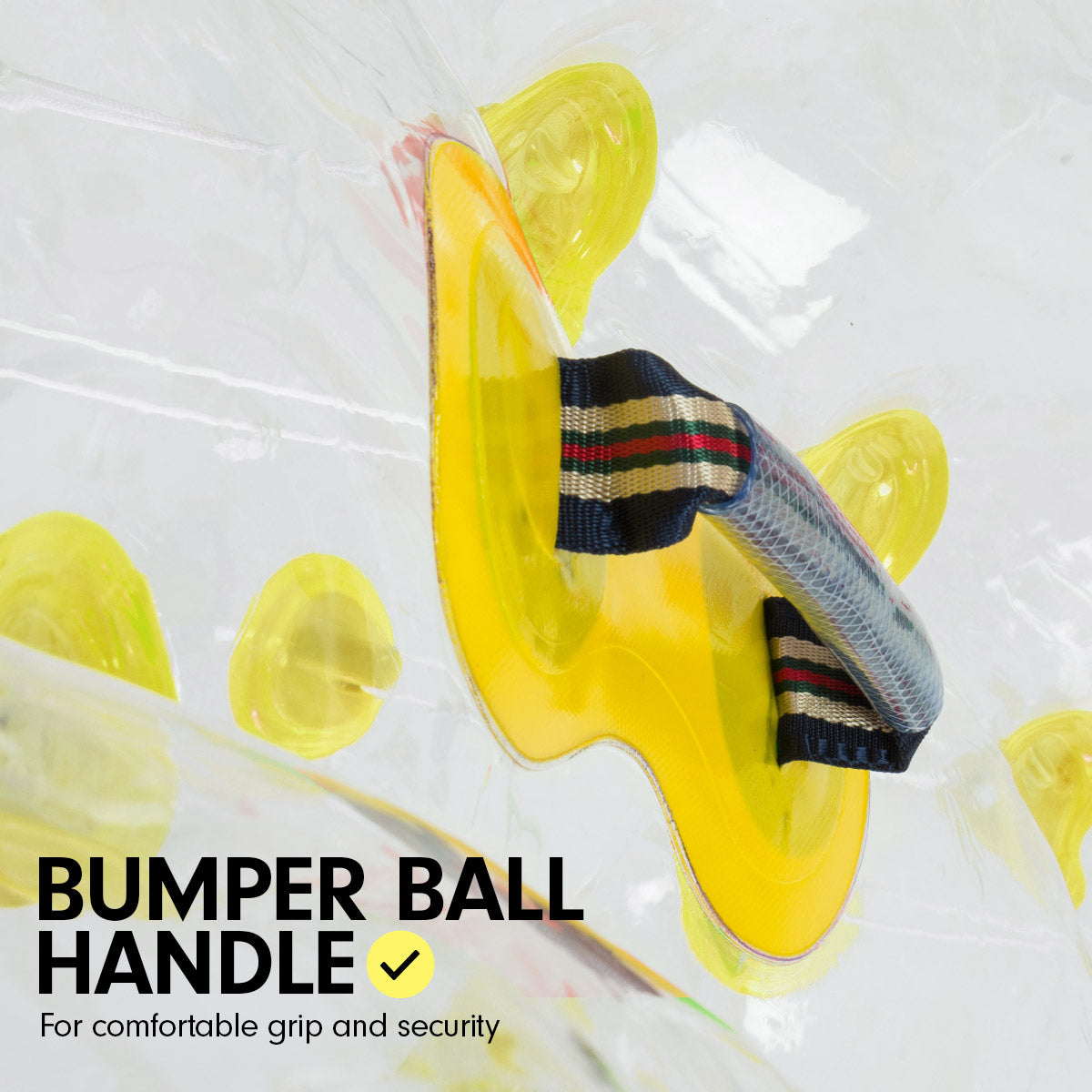 1.2m Inflatable Bumper Ball Body Bubble Outdoor Transparent - Yellow
