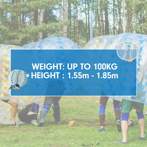 1.5m Inflatable Bumper Ball Body Bubble Outdoor Transparent - Blue