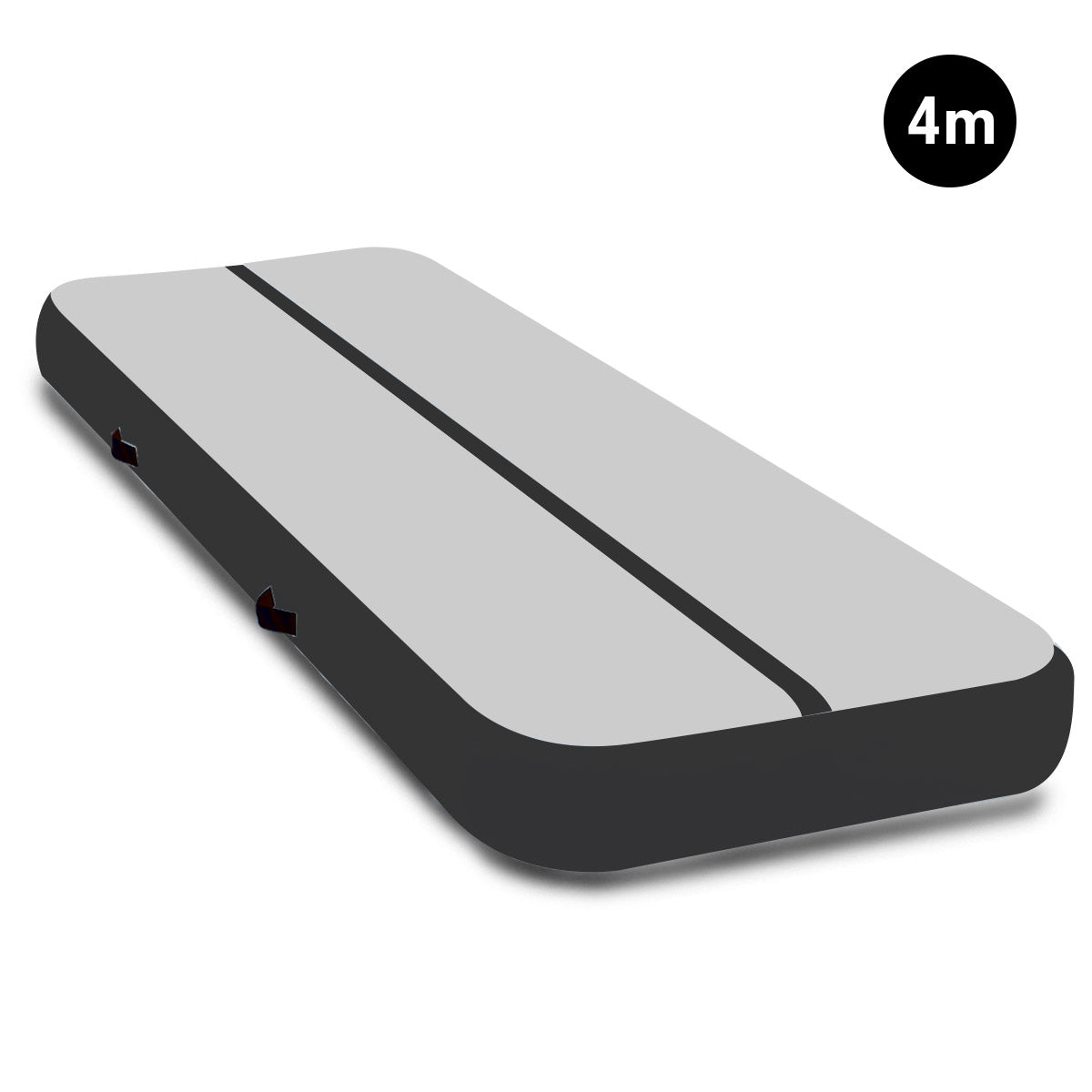 4m Airtrack Tumbling Mat Gymnastics Exercise Air Track - Grey Black
