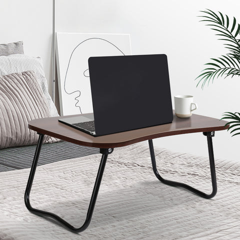 Portable Bed Tray Table - Dark Wood