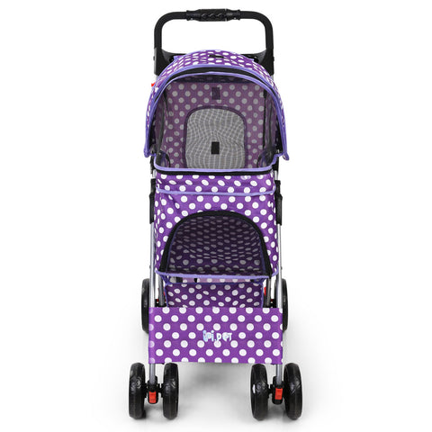 Pet 4 Wheel Pet Stroller - Purple