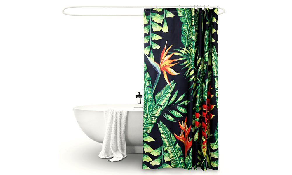 Polyester Waterproof Bathroom Shower Curtain Palm 180x200cm