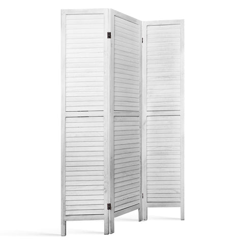 Artiss Room Divider Privacy Screen Foldable Partition Stand 3 Panel White - Store Zone-Online Shopping Store Melbourne Australia