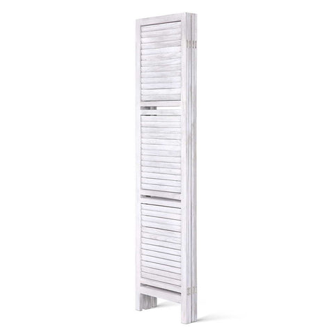 Artiss Room Divider Privacy Screen Foldable Partition Stand 4 Panel White - Store Zone-Online Shopping Store Melbourne Australia