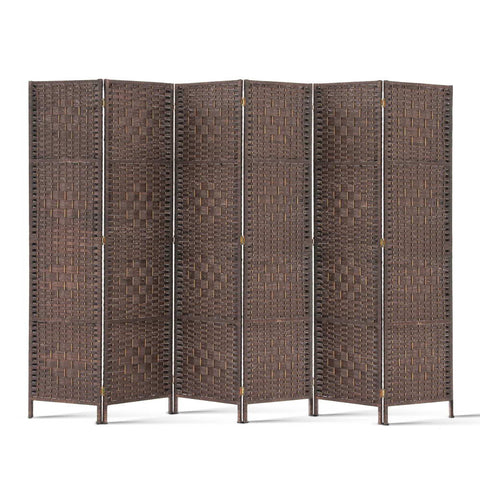Artiss 6 Panel Room Divider - Brown - Store Zone-Online Shopping Store Melbourne Australia