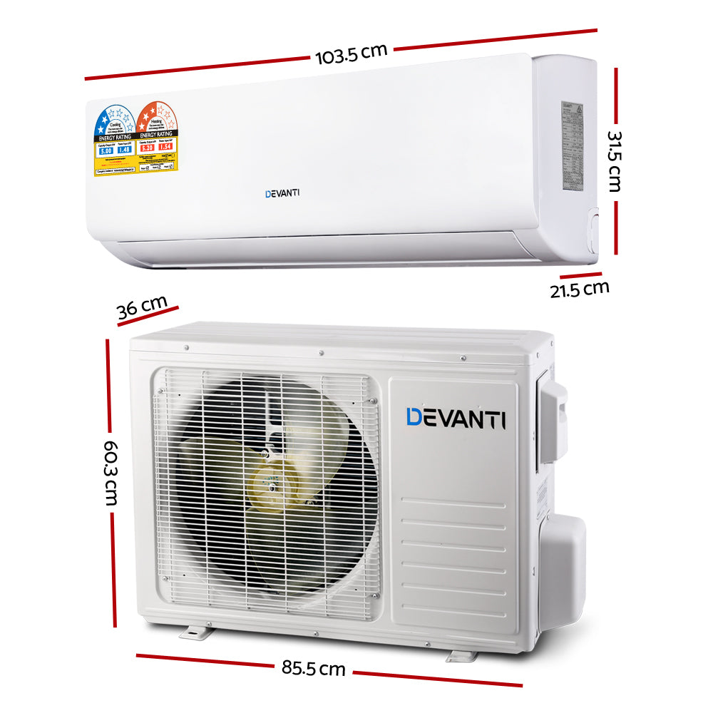 Devanti 4-in-1 5.0kW Split System Inverter Air Conditioner