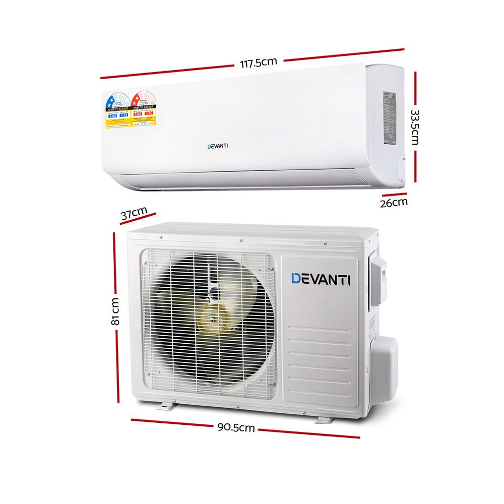 Devanti 8.0KW Split System Reverse Cycle Air Conditioner