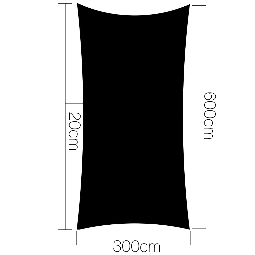 Instahut 280gsm 3x6m Sun Shade Sail Canopy Rectangle