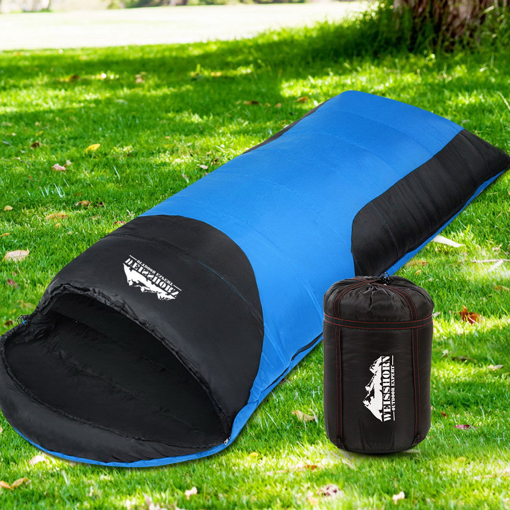 Weisshorn Single Thermal Sleeping Bags - Blue & Black