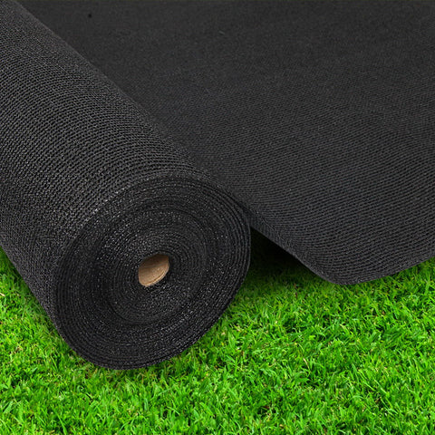 Instahut 70% UV Sun Shade Cloth Shadecloth Sail Roll Mesh Garden Outdoor 3.66x20m Black