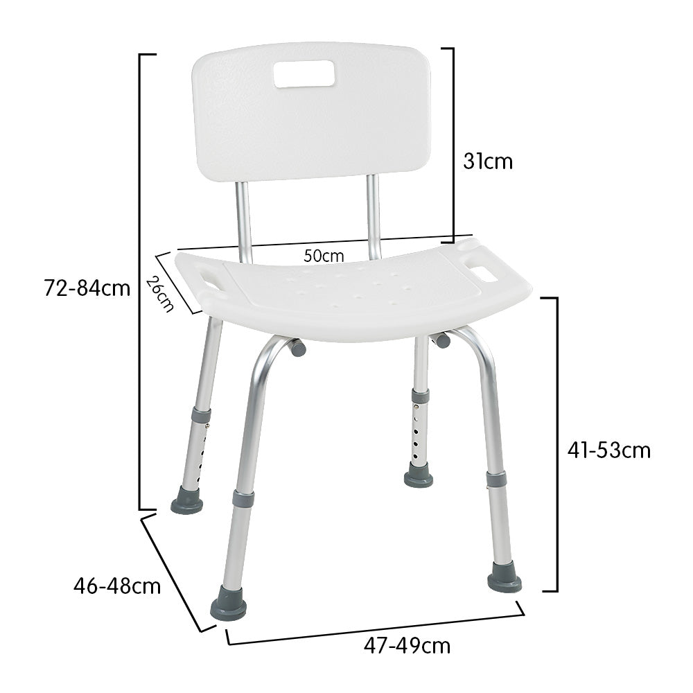 Orthonica Medical Shower tub Chair Backseat Bench