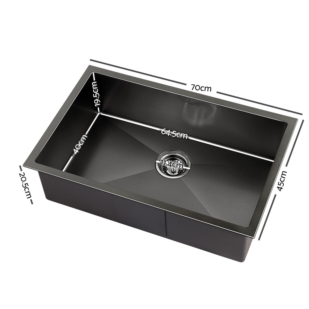 700x450mm Nano Stainless Steel Kitchen Sink