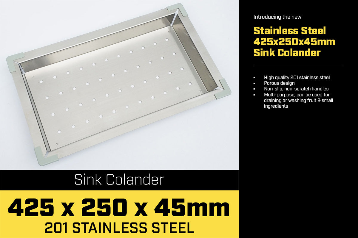 Stainless Steel Sink Colander 425 x 250mm