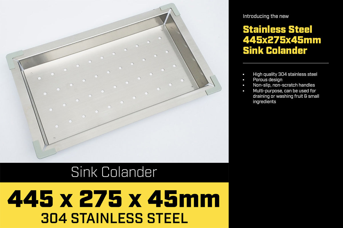 Stainless Steel Sink Colander 445 x 275mm