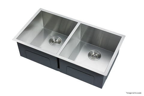 304 Stainless Steel Undermount Topmount Kitchen Laundry Sink - 865 x 440mm
