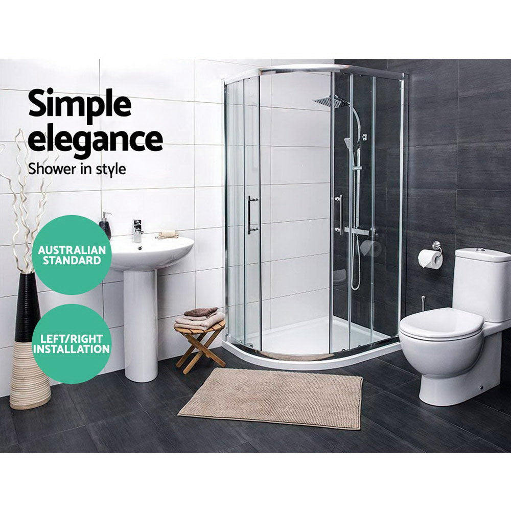 Cefito Bathroom Curved Shower Cubicle Screen