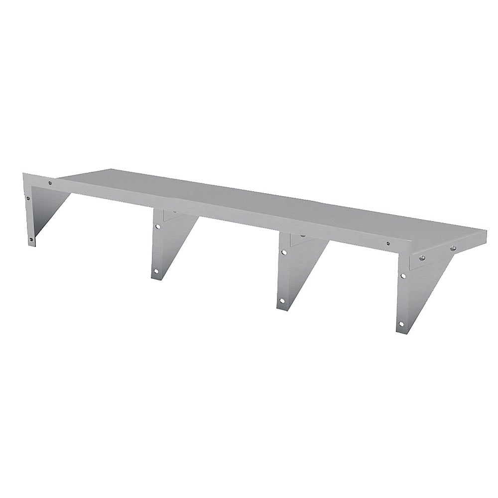 2134x356mm Stainless Wall Mounted Shelf