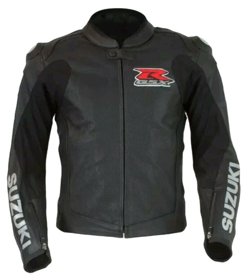 Brand New Suzuki GXSR Black Mens Leather Jackets Motorcycle Cowhide Suits Bikers Jackets - Store Zone-Online Shopping Store Melbourne Australia