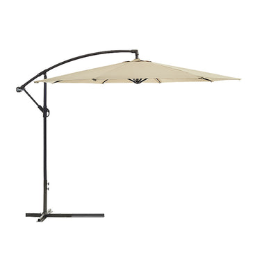 Wallaroo 3m Cantilever Market Outdoor Umbrella - Beige