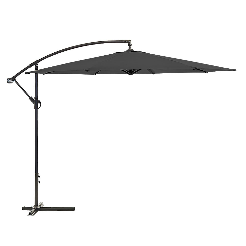 Wallaroo 3m Cantilever Market Outdoor Umbrella - Black