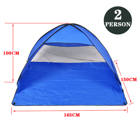 Pop Up Portable Beach Canopy Sun Shade Shelter Blue