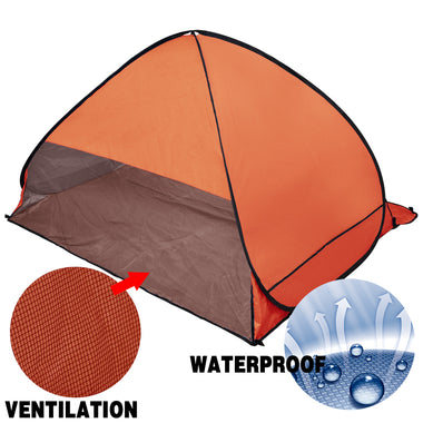 Pop Up Portable Beach Canopy Sun Shade Shelter Orange
