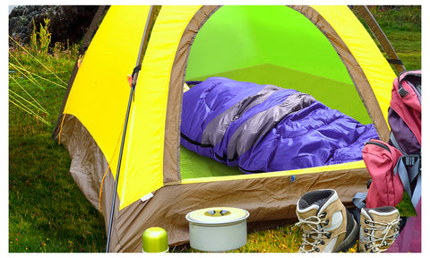 Micro Compact Design Thermal Sleeping Bag Purple