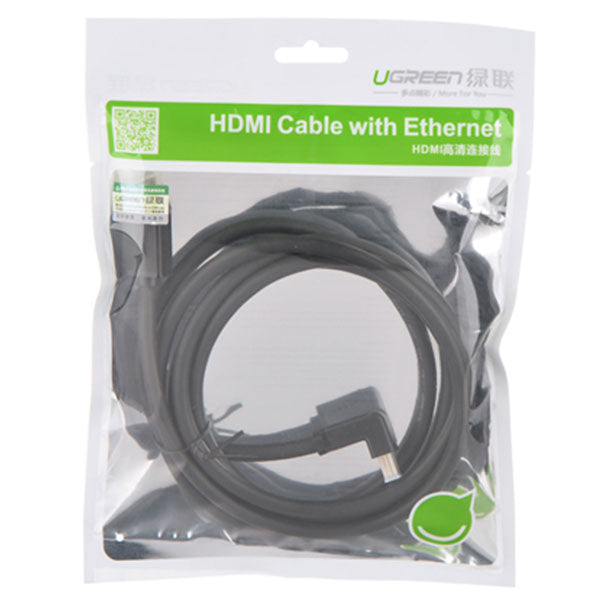 UGREEN Straight to down full copper HDMI right angle Cable 5M (10175)